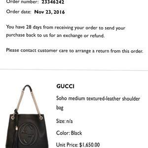 Gucci Bags - Gucci Soho leather shoulder bag